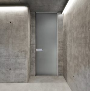 Porta blindata Bauxt Plank Vetro Superior M16 | DF Serramenti