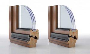 Dettaglio finestra in legno e alluminio | DF Serramenti