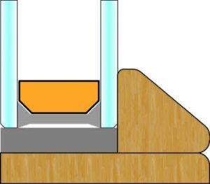 Schema sagoma interna Design, Finestra in legno | DF SerramentiDesign