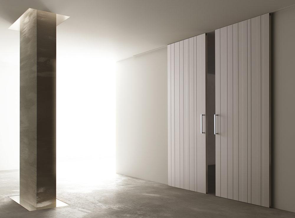 Porta in legno da interno Ghizzi scorrevole raso muro | DF Serramenti