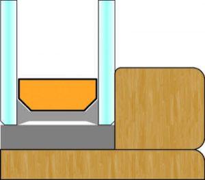 Schema sagoma interna Quadro, Finestra in legno | DF Serramenti