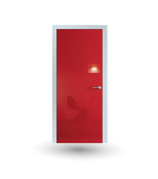 Porta da interno collezione Iki modello Laccato Shine Rosso | DF Serramenti