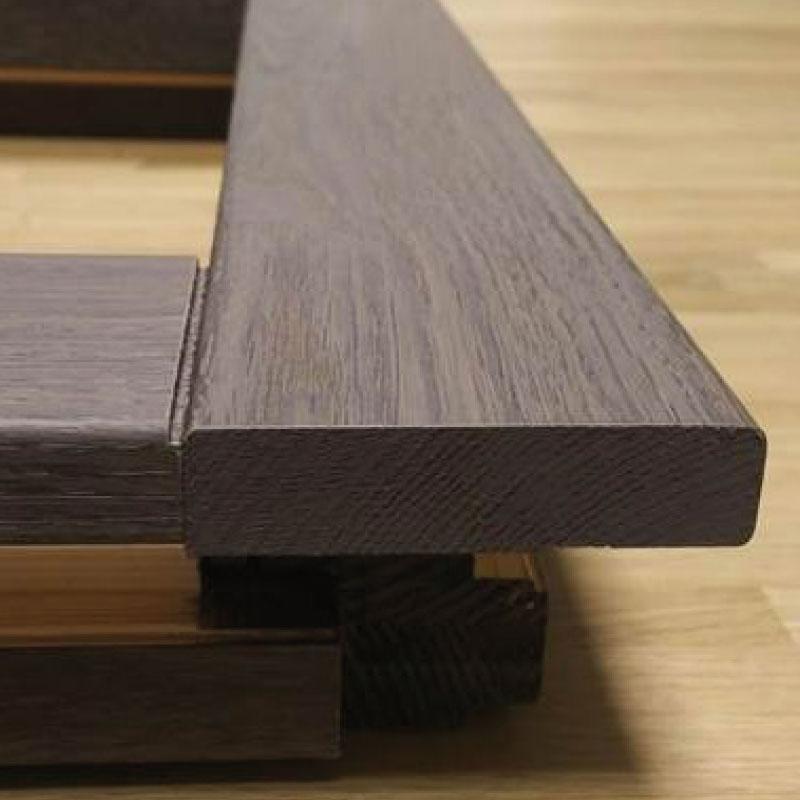 Particolare sezione inferiore Finestra Climax in legno e alluminio| DF Serramenti