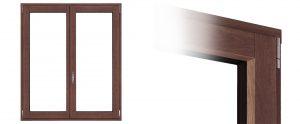 Finestre Linear in legno e alluminioSezione finestra Linear in legno e alluminio | DF Serramenti
