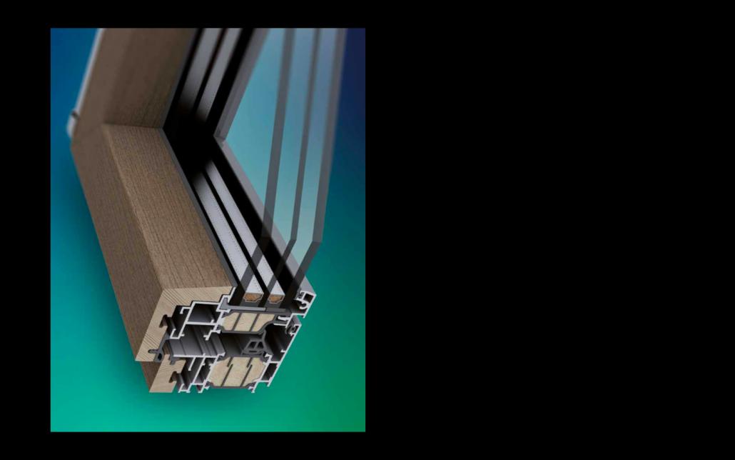 Dettaglio Skywood Evo in legno e alluminio | DF Serramenti