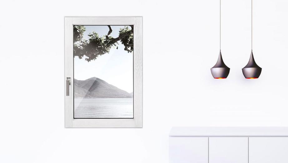 Finestra in legno, linea Minima, spazzolato poro aperto | DF Serramenti