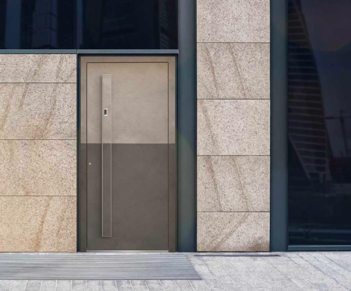 Portoncino in Alluminio linea Kopen modello Materika | DF Serramenti