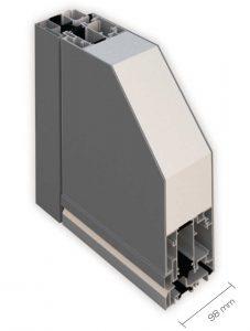 Dettaglio interno portoncino in Alluminio Kopen | DF Serramenti