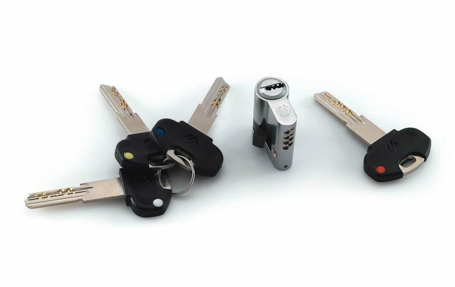 DF Serramenti   Grata Tekno Di Piquadro Sicurezza , dettaglio serratura a cilindro europeo